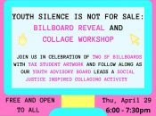 """""""Youth Silence is Not for Sale"""" Billboard Reveal and Workshop"""