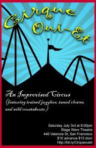 Cirque oui et poster 194x300