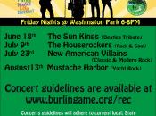"Burlingame ""Music in the Park"" w/ Mustache Harbor '70s Yacht Rock"