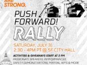 """""""Asians Art Strong"""" Push Forward Rally at San Francisco City Hall"""