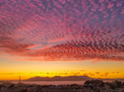 SF's Cotton Candy Sunset on Tuesday