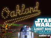 Oakland A's Star Wars Drone Light Show, August 27